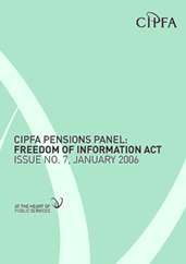 CIPFA Pensions Panel Freedom of Information Act