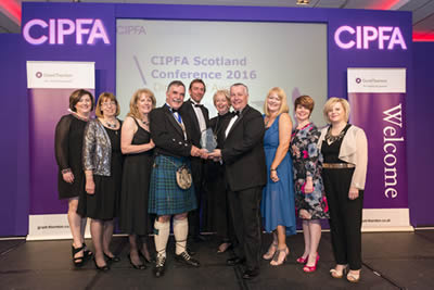 Greater Glasgow and Clyde Acute Finance Team winning award