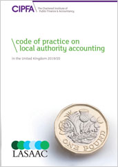 Code of practice on local authority accounting in the UK 2019/20 front cover