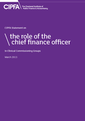 Front cover: the Role of the Chief Financial Officer in Clinical Commissioning Groups