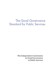 Good governance standard for public services front cover