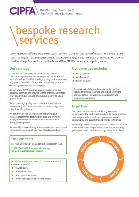 CIPFA bespoke research